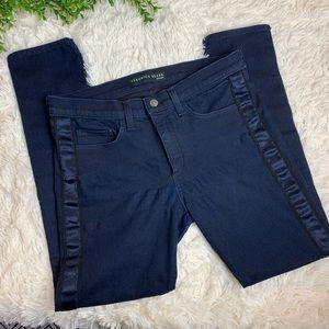 $195 Veronica Beard Brooke Skinny Tuxedo Jeans